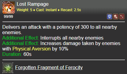 Lost Rampage FFXIV