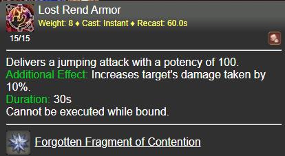 Lost Rend Armor FFXIV