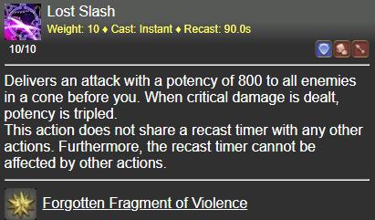 Lost Slash FFXIV