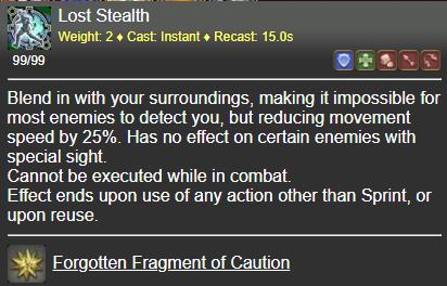 Lost Stealth FFXIV
