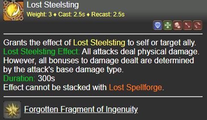Lost Steelsting FFXIV