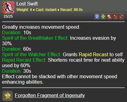 Lost Swift FFXIV