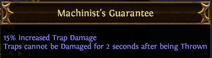 Machinist's Guarantee PoE