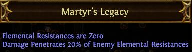 Martyr's Legacy PoE