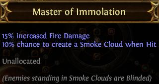 Master of Immolation PoE