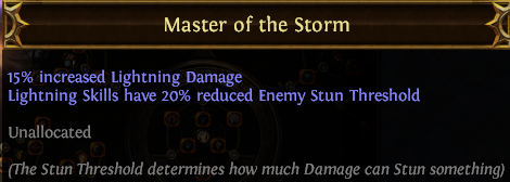 Master of the Storm PoE