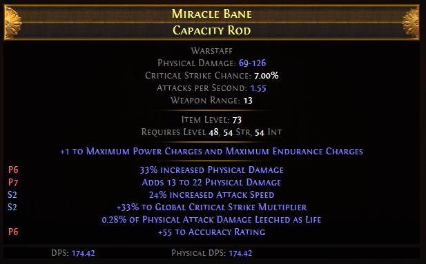 Miracle Bane Capacity Rod