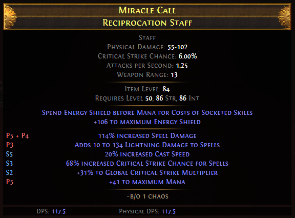 Miracle Call Reciprocation Staff