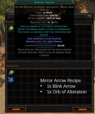 Mirror Arrow Recipe
