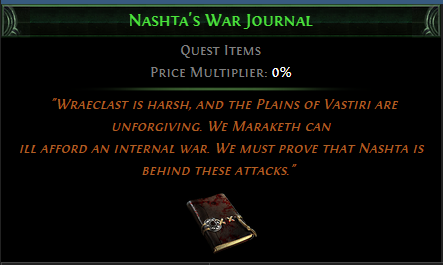 Nashta's War Journal