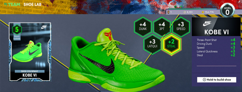 NBA 2K22 Craft Shoes In The MT Shoe Lab