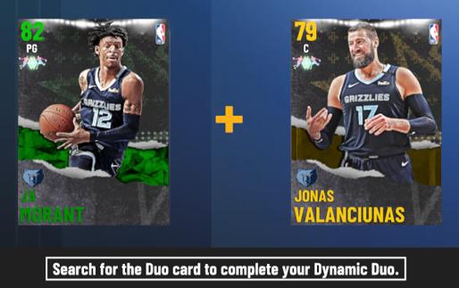 NBA 2K21 Duo Card