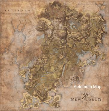 New World Aeternum Map