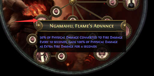 Ngamahu, Flame's Advance