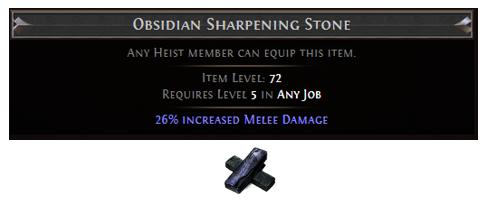 Obsidian Sharpening Stone