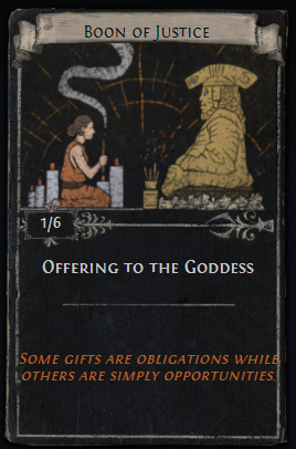 Offering to the Goddess Card