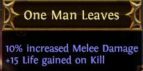 One Man Leaves PoE