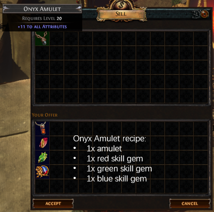 Onyx Amulet Recipe