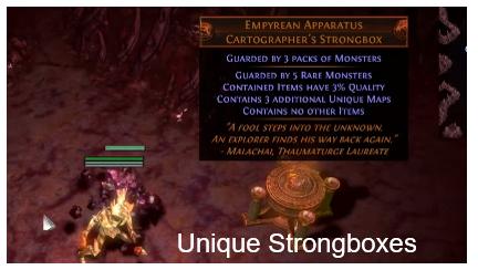 Open a Unique Strongbox PoE