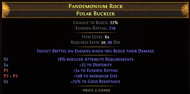 Pandemonium Rock Polar Buckler