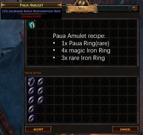 Paua Amulet Recipe