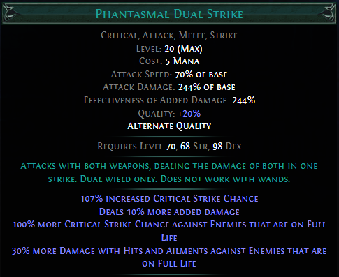 Phantasmal Dual Strike PoE