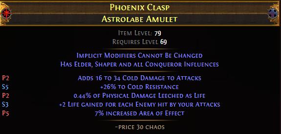 Phoenix Clasp Astrolabe Amulet