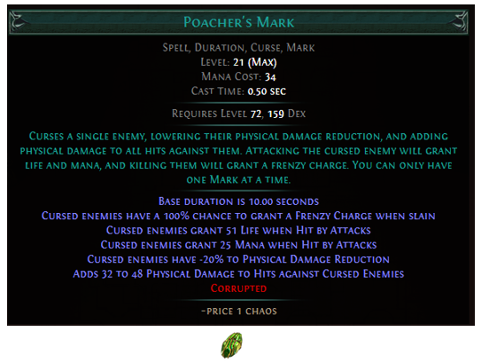 Poacher's Mark Gem