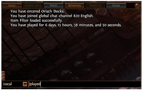 PoE How Many Hours Played