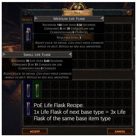 PoE Life Flask Recipe