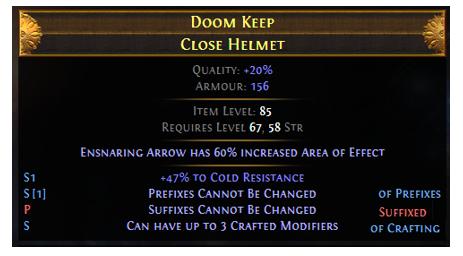 PoE Meta-crafting modifiers