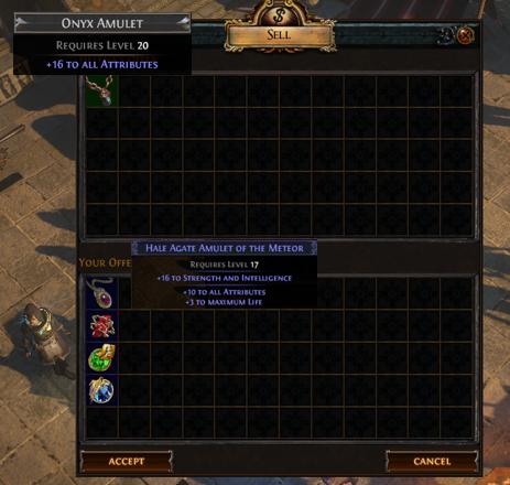 PoE Onyx Amulet Recipe