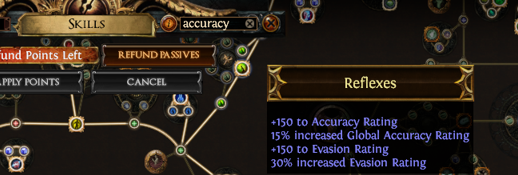 PoE Search Accuracy Passives