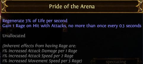 Pride of the Arena PoE