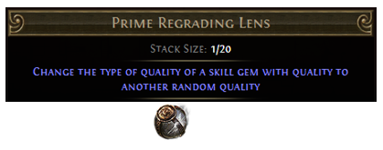 Prime Regrading Lens