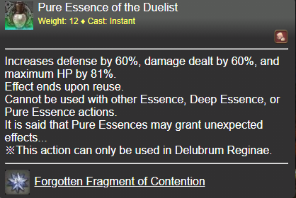 Pure Essence of the Duelist FFXIV