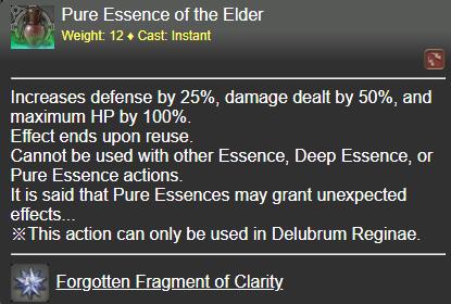 Pure Essence of the Elder FFXIV