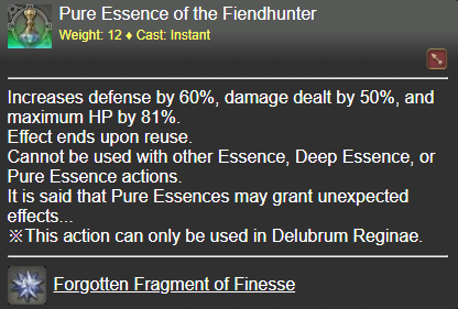 Pure Essence of the Fiendhunter FFXIV