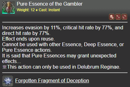 Pure Essence of the Gambler FFXIV
