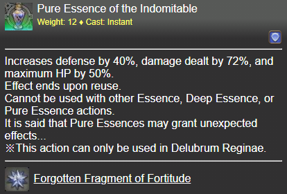 Pure Essence of the Indomitable FFXIV