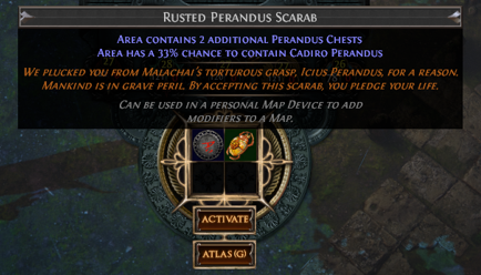Put a Scarab with a map