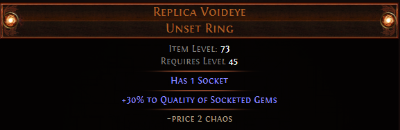 Quality of Socketed Gems