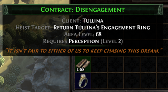 PoE Quest Items In Inventory