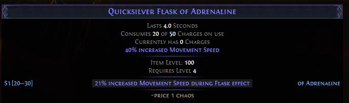 Quicksilver Flask of Adrenaline