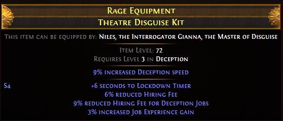 Rage Equipment Theatre Disguise Kit
