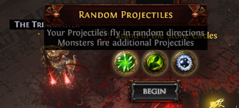 Random Projectiles