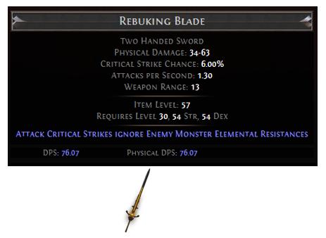 Rebuking Blade