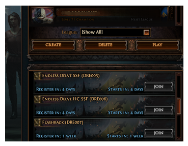 Register a Endless Delve account