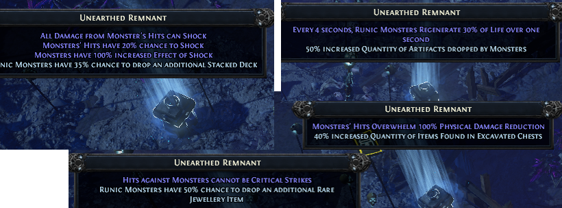 Remnant Modifiers PoE
