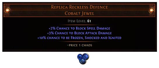 Replica Reckless Defence
